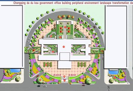 重庆市大渡口区政府广场方案设计-园林景观篇-案例-,.